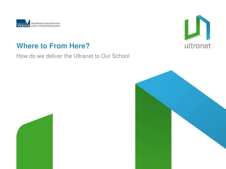Where to From Here?<br />How do we deliver the Ultranet to Our School<br />