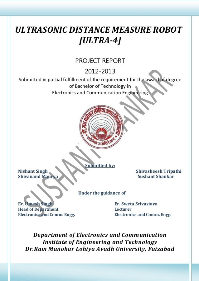 B.Tech.Final Year Ece Project Report On Ultrasonic Distance Measure R…