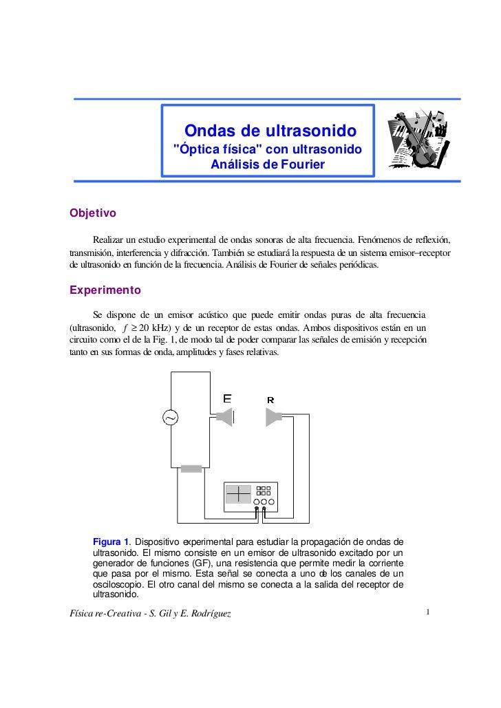"Ondas de ultrasonido                            ""Óptica física"" con ultrasonido                                  Análisis ..."