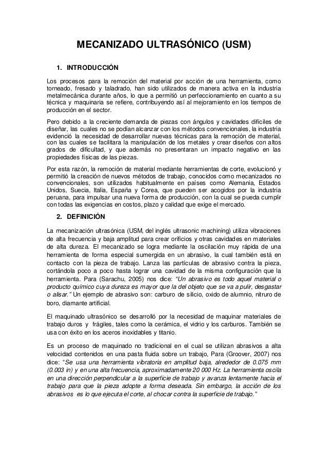 MAQUINADO Ultrasonido  Slide 2