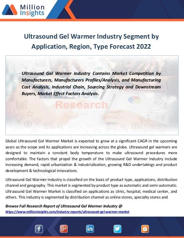 Ultrasound gel warmer industry segment by application