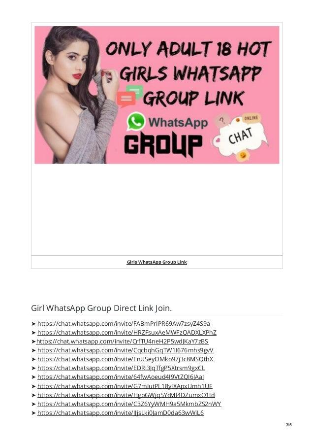 Girls WhatsApp Group Link For 2019 Full Active Girls WhatsApp