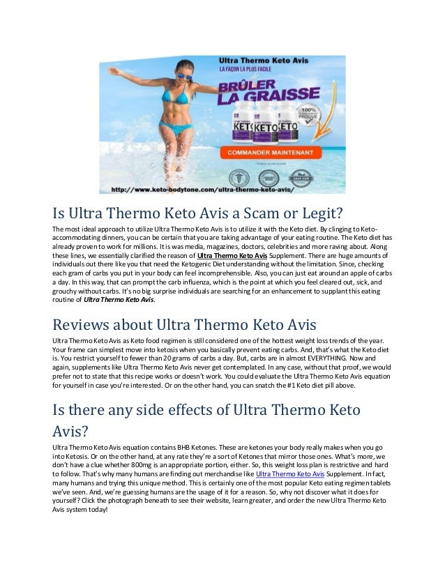 Is Ultra Thermo Keto Avis a Scam or Legit? The most ideal approach to utilize Ultra Thermo Keto Avis is to utilize it with...