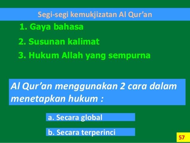 Segi Segi Kemukjizatan Al Quran - Puspasari
