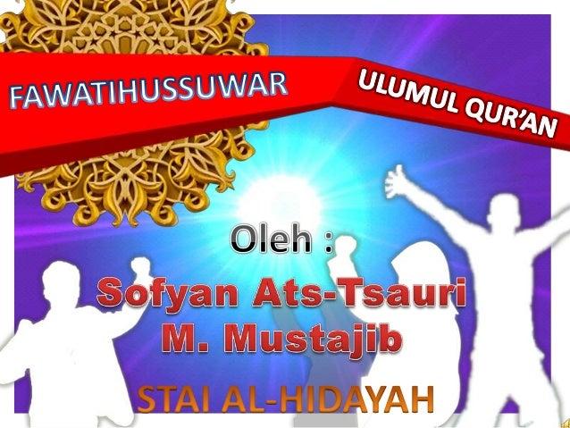 Ulumul qur'an fawatihussuwar Slide 2