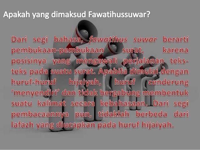 Ulumul qur'an fawatihussuwar Slide 3