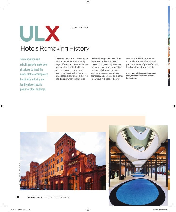 ulx Hotels Remaking History                                                ronnyren                                   His...