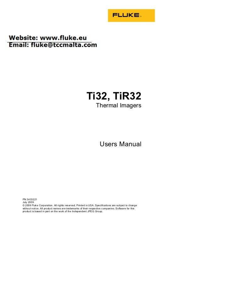 ti32 tir32 user manual rh slideshare net Fluke Digital Multimeter Fluke Multimeter