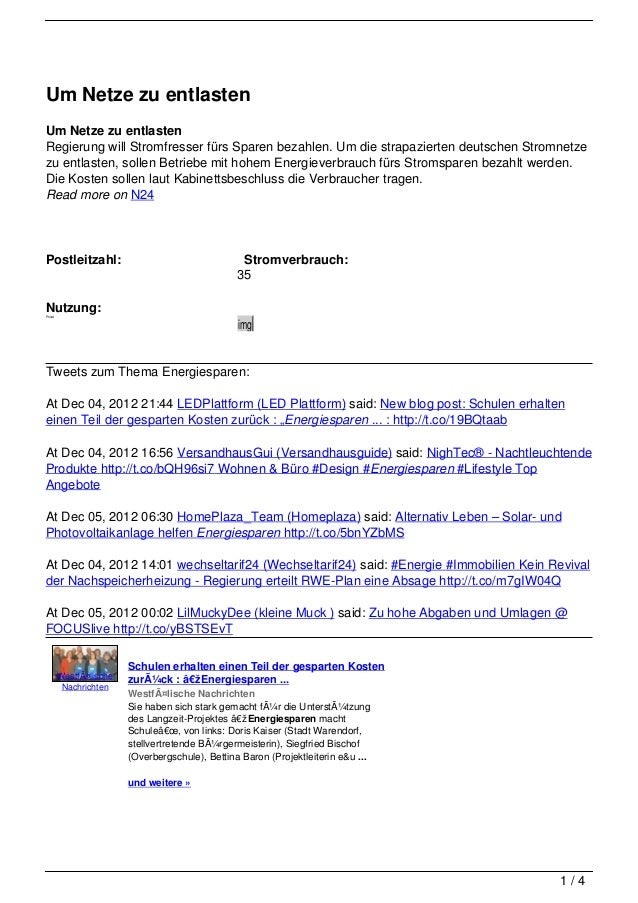 Um Netze zu entlastenUm Netze zu entlastenRegierung will Stromfresser fürs Sparen bezahlen. Um die strapazierten deutschen...