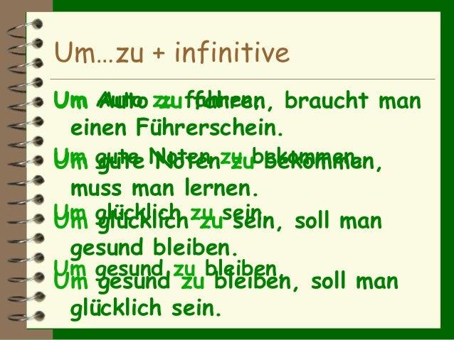 German Grammer Um zu ( Traum Academy Kadavanthra) 9745539266 Slide 2