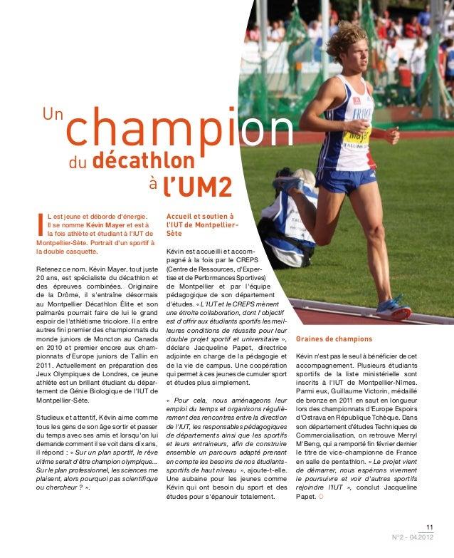 Un         champion          décathlon           du                                        à l'UM2I    l est jeune et débo...