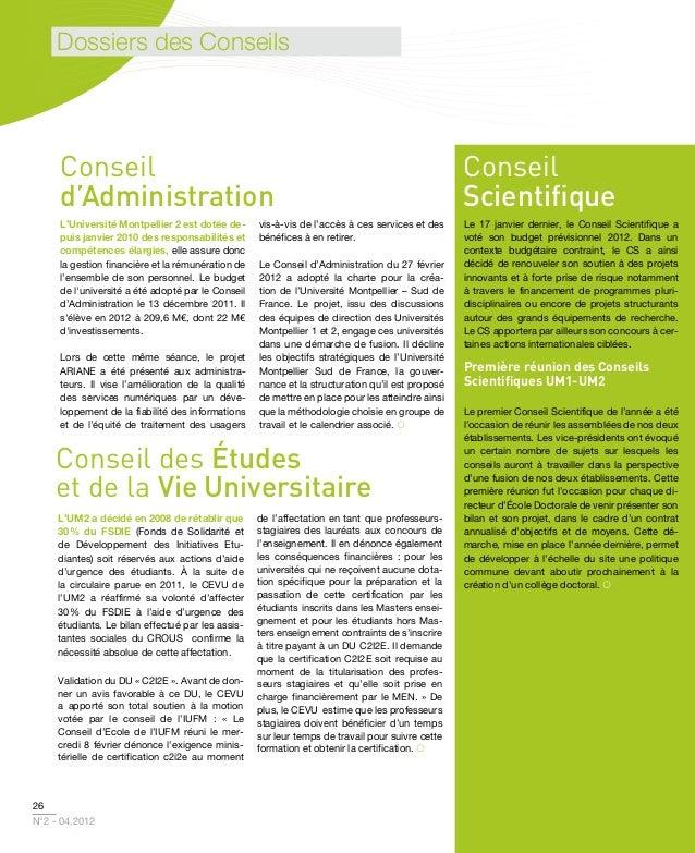 UM2 Magazine n°2 Avril 2012