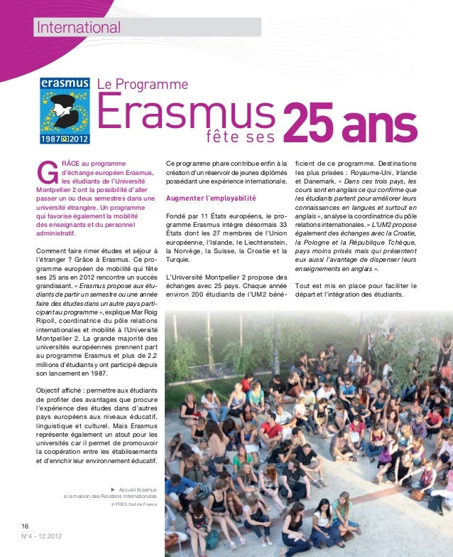 International                              Le Programme                             Erasmus 25 ans                        ...