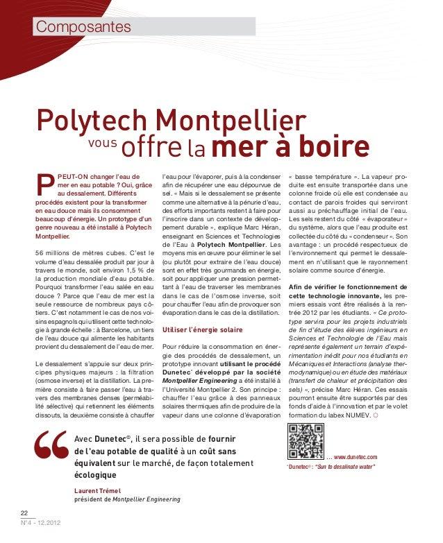 Composantes    Polytech Montpellier        vous             offre la mer à boire    P           PEUT-ON changer l'eau de  ...