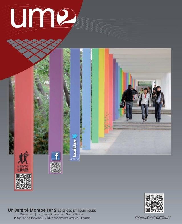 @UMONTP2Université Montpellier 2 SCIENCES ET TECHNIQUES       MONTPELLIER   LANGUEDOC-ROUSSILLON   SUD DE FRANCE   PLACE E...