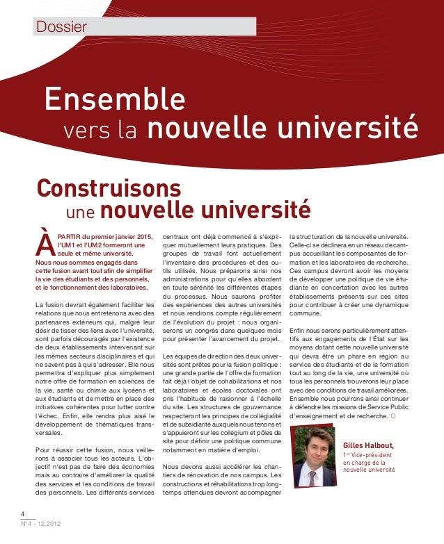 Dossier       Ensemble        vers la nouvelle université     Construisons       une nouvelle université    À             ...