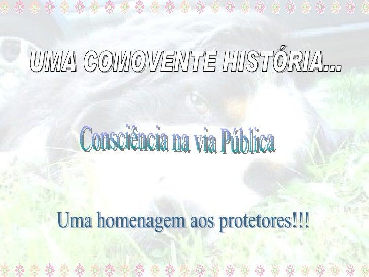 Consciência na via Pública Uma homenagem aos protetores!!! UMA COMOVENTE HISTÓRIA...