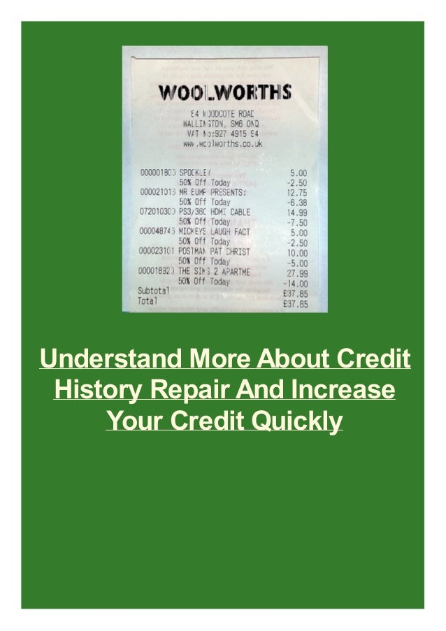 Understand More About Credit History Repair And Increase Your Credit Quickly