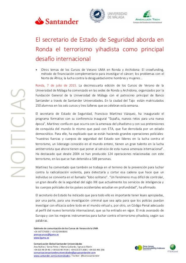 4  j ' a  l' ÁNDALLKJATECH  (¿man :1. rn.  ,m. .immn. ... nn, |       Ó Santander  El secretario de Estado de Seguridad ab...