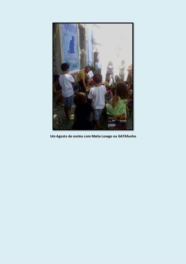 Um Agosto de contos com Matia Losego na GATAfunho