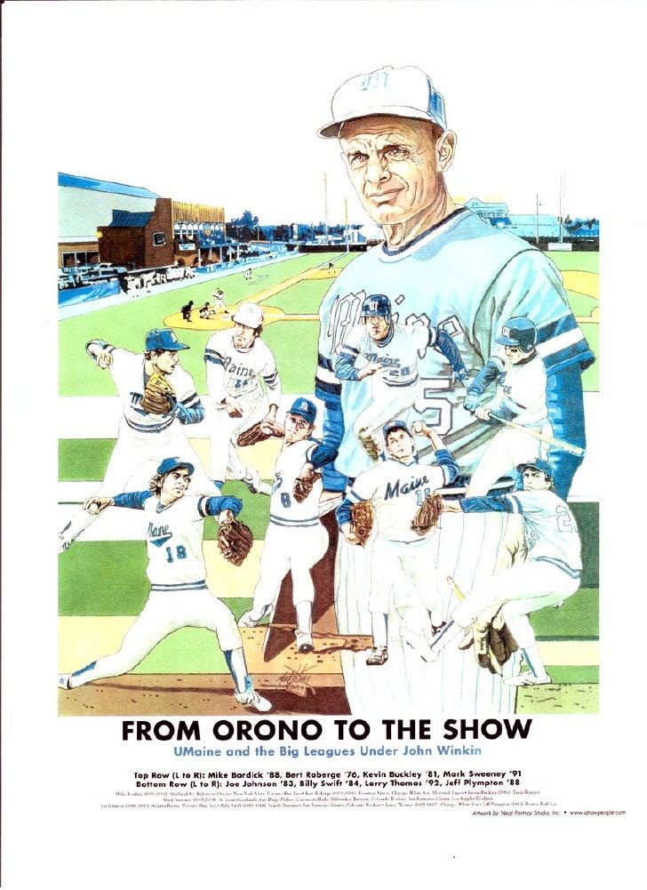 U Maine baseball coach John Winkin