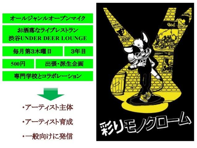 毎月第3木曜日500円お洒落なライブレストラン渋谷UNDER DEER LOUNGE3年目・アーティスト主体・アーティスト育成・一般向けに発信オールジャンルオープンマイク出張・派生企画専門学校とコラボレーション