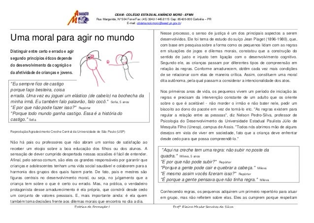 CEAM - COLÉGIO ESTADUAL AMÂNCIO MORO - EFMN Rua Margarida, Nº 504 Fone/Fax: (45) 3242-1445/2115 Cep: 85420-000 Corbélia – ...