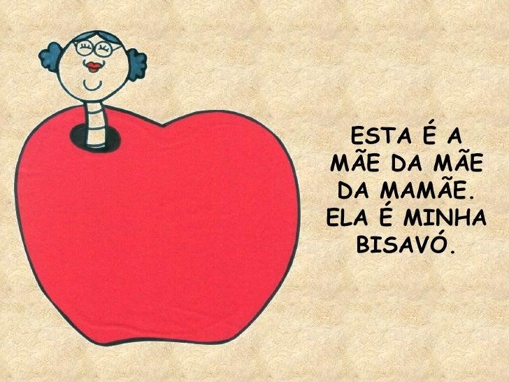 ESTA É A MÃE DA MÃE DA MAMÃE. ELA É MINHA BISAVÓ.