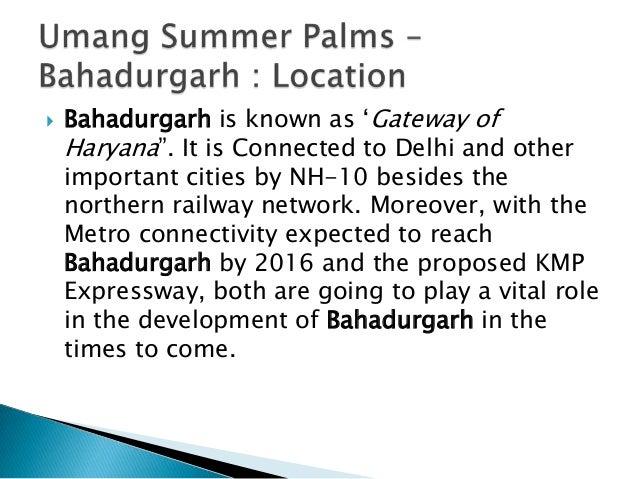 Umang Summer Palms | Call : +91-7838802803, 9999810710 | www.umangsummerpalms.in