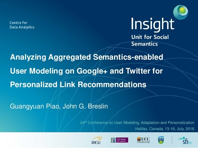 Analyzing Aggregated Semantics-enabled User Modeling on Google+ and Twitter for Personalized Link Recommendations Guangyua...
