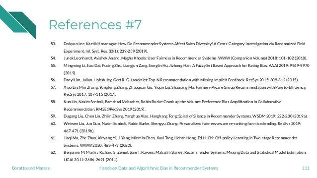 References #7 53. Dokyun Lee, Kartik Hosanagar: How Do Recommender Systems Affect Sales Diversity? A Cross-Category Invest...