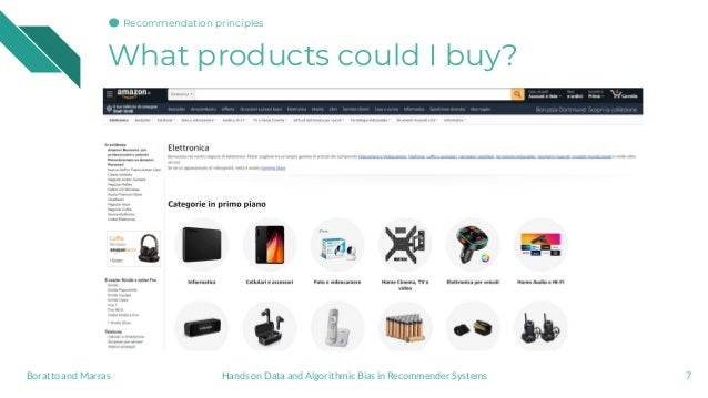 What products could I buy? 7Hands on Data and Algorithmic Bias in Recommender SystemsBoratto and Marras Recommendation pri...