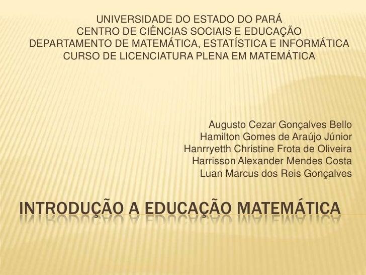 Uma proposta de ensino da matemática financeira