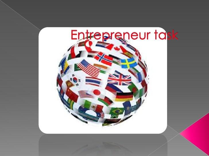 Entrepreneur task<br />