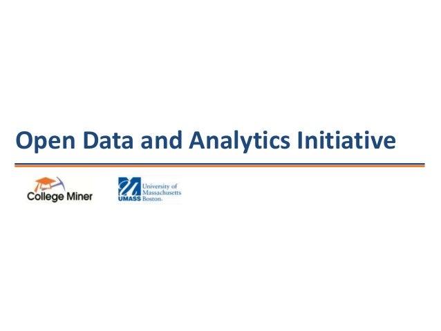 Open Data and Analytics Initiative