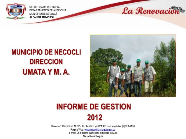REPUBLICA DE COLOMBIA     DEPARTAMENTO DE ANTIOQUIA     MUNICIPIO DE NECOCLÍ     ALCALDIA MUNICIPALMUNICIPIO DE NECOCLI   ...