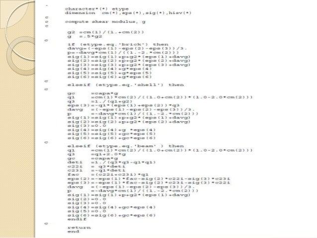 User material Development in LS Dyna