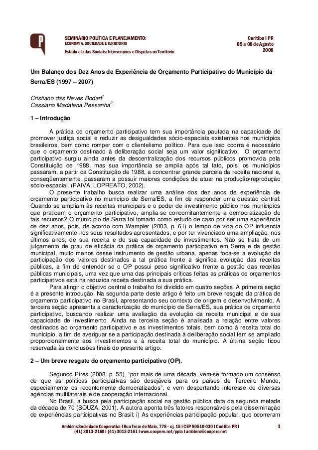 Ambiens Sociedade Cooperativa I Rua Treze de Maio, 778 – cj. 15 I CEP 80510-030 I Curitiba PR I (41) 3013-2160 I (41) 3013...