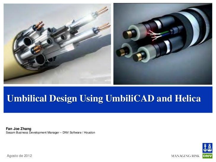 Umbilical Design Using UmbiliCAD and HelicaFan Joe ZhangSesam Business Development Manager – DNV Software / HoustonAgosto ...