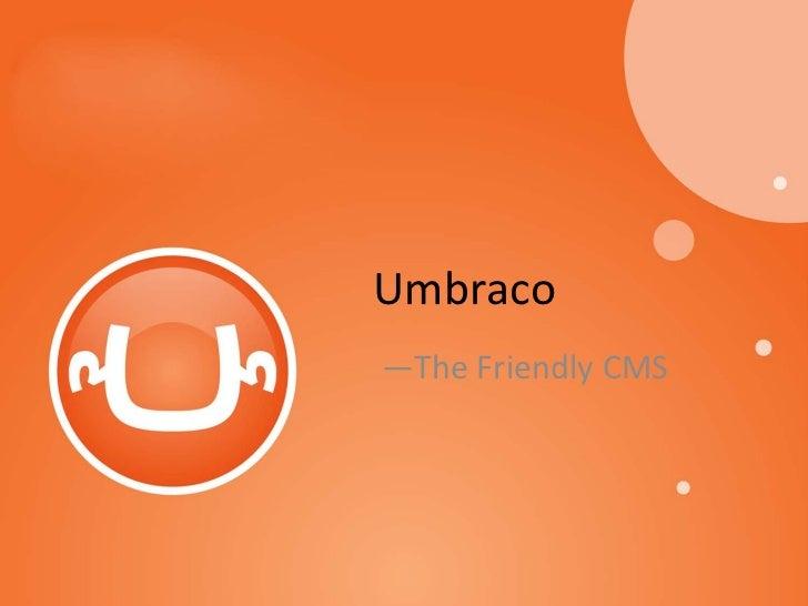 Umbraco—The Friendly CMS