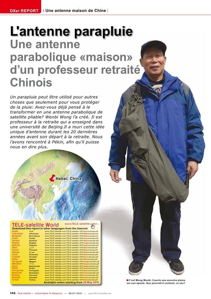 DXer REPORT                   Une antenne maison de Chine     L'antenne parapluie Une antenne parabolique «maison» d'un pr...