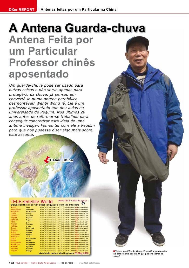 DXer REPORT                   Antenas feitas por um Particular na China     A Antena Guarda-chuva Antena Feita por um Part...