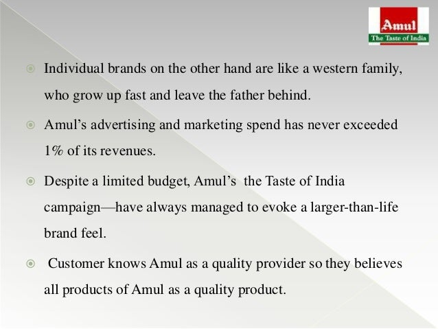 umbrella branding of amul This case study discusses the brand building challenges of amul.