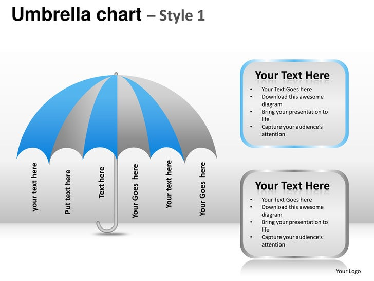 Umbrella chart style 1 powerpoint presentation templates umbrella toneelgroepblik Images