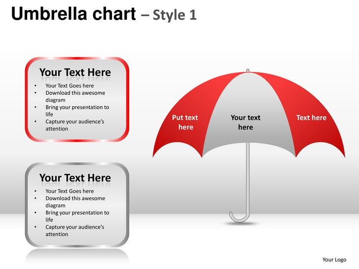 Umbrella Chart Style 1 Powerpoint Presentation Templates