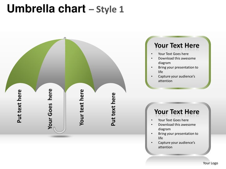 Umbrella chart style 1 powerpoint presentation templates
