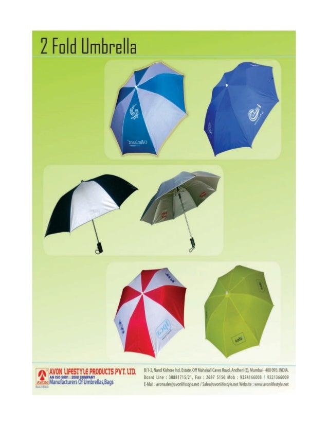 Avon Lifestyle Products Pvt. Ltd., Mumbai, Promotional Umbrellas, Bag & Pouches