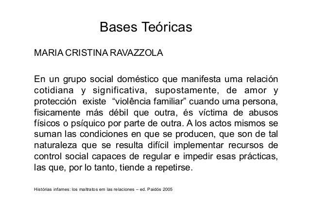 Bases TeóricasMARIA CRISTINA RAVAZZOLAEn un grupo social doméstico que manifesta uma relacióncotidiana y significativa, su...