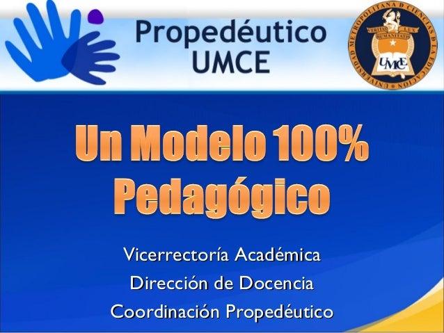 Vicerrectoría AcadémicaVicerrectoría Académica Dirección de DocenciaDirección de Docencia Coordinación PropedéuticoCoordin...