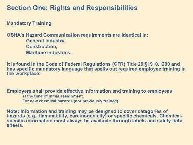 Global Harmonization Standard Changes To Osha Hacom Rule